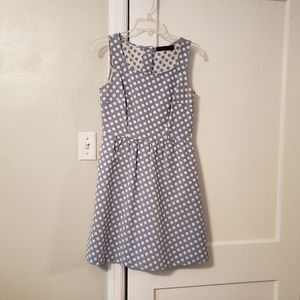 Sleeveless Polka Dot Dress with 5 button back